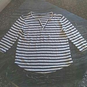 MASSIMO DUTTI - linen striped top